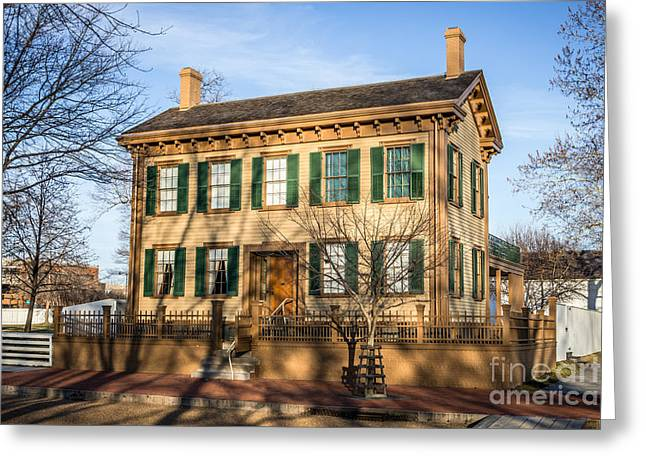 Abraham Lincoln Home In Springfield Illinois Greeting Card by Paul Velgos