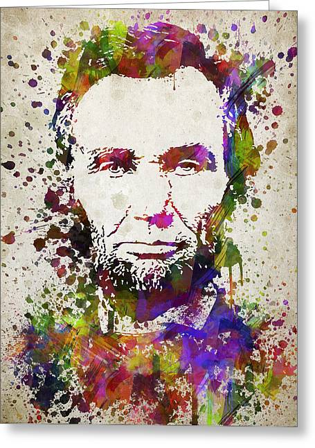 Abraham Lincoln In Color Greeting Card by Aged Pixel
