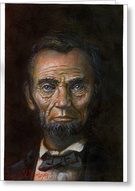 Abraham Lincoln Greeting Card by Jeff Brimley