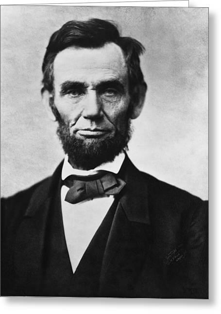Abraham Lincoln Greeting Card by Georgia Fowler