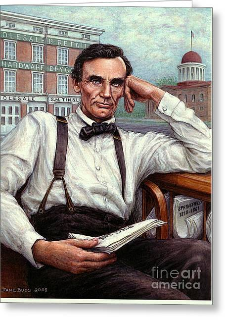 Abraham Lincoln Of Springfield Bicentennial Portrait Greeting Card