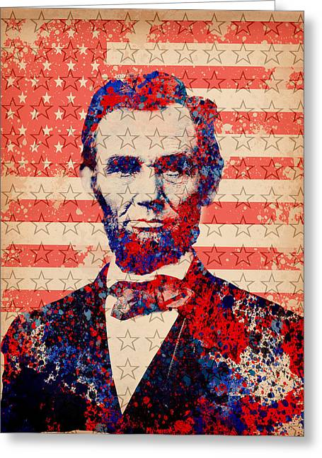Abraham Lincoln Pop Art 2 Greeting Card by Bekim Art