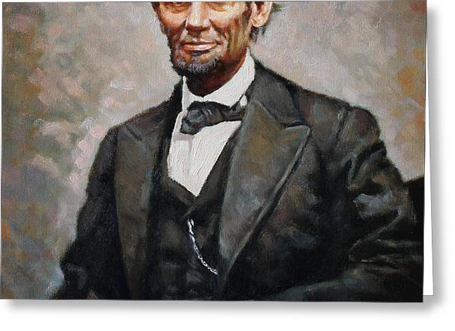Abraham Lincoln Greeting Card by Ylli Haruni