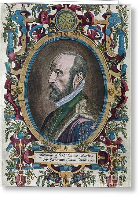 Abraham Ortelius, Dutch Cartographer Greeting Card by Middle Temple Library
