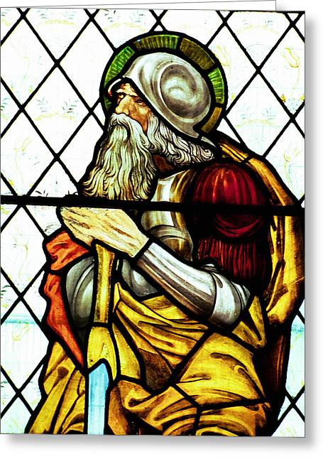 Abraham The Patriarch In Stained Glass Greeting Card
