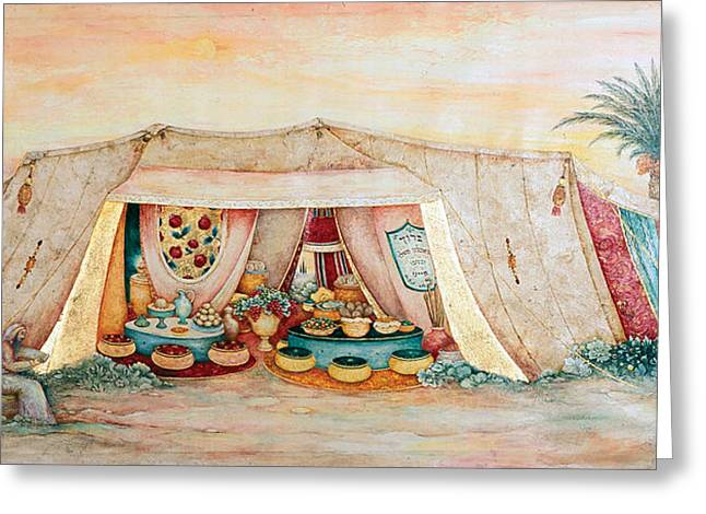 Abraham's Tent Greeting Card by Michoel Muchnik