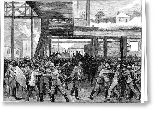 Abram Colliery Disaster Greeting Card by Granger