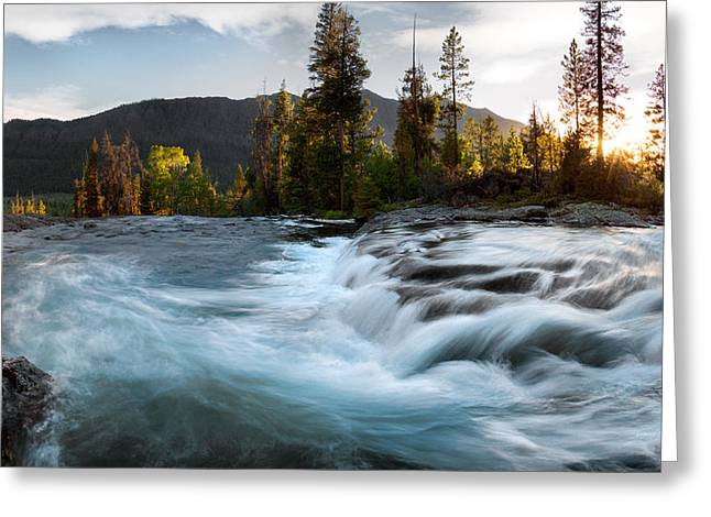 Absaroka Cascade Greeting Card by Leland D Howard