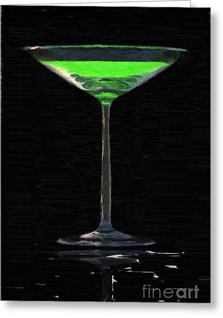 Absinth In The Glass Greeting Card