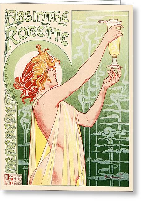 Absinthe Robette Greeting Card by Gianfranco Weiss