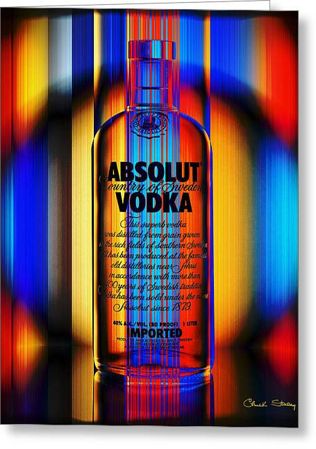 Absolut Abstract Greeting Card by Chuck Staley