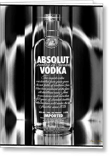 Absolut Black And White Greeting Card