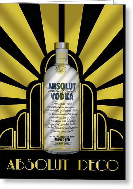 Absolut Deco Greeting Card by Chuck Staley
