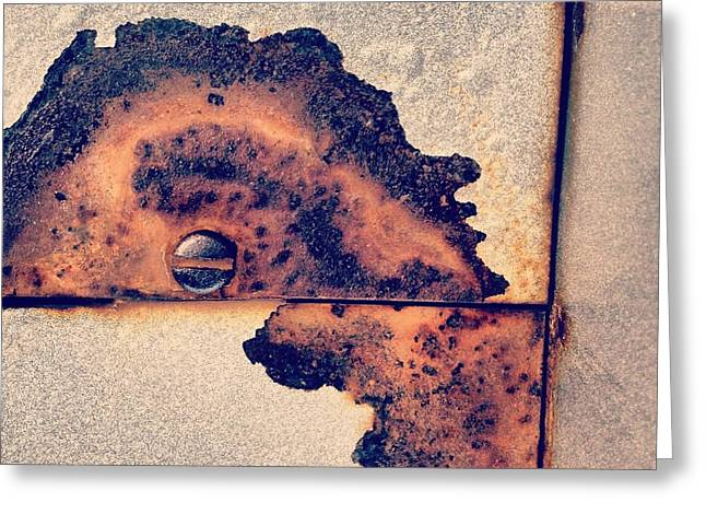 Absract Rust Greeting Card by Christy Beckwith