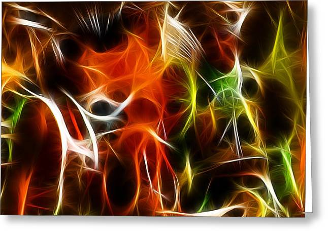 Abstract 001 Greeting Card by Wayne Wood