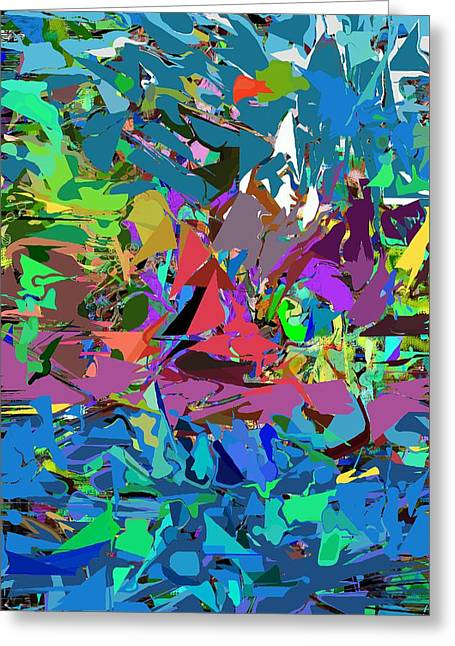 Greeting Card featuring the digital art Abstract 011515 by David Lane
