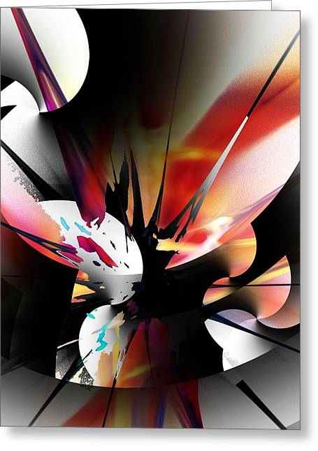 Greeting Card featuring the digital art Abstract 082214 by David Lane