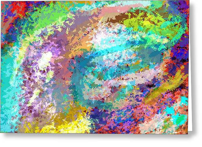 Abstract 1 Greeting Card by Karl  Bortscheller