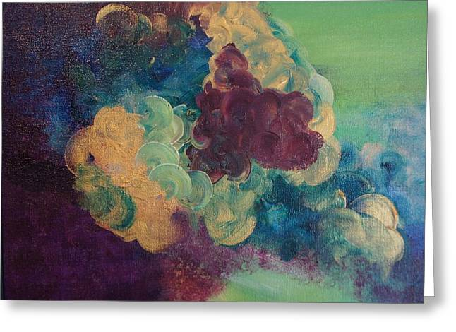Greeting Card featuring the painting Abstract 1 by Kristine Bogdanovich