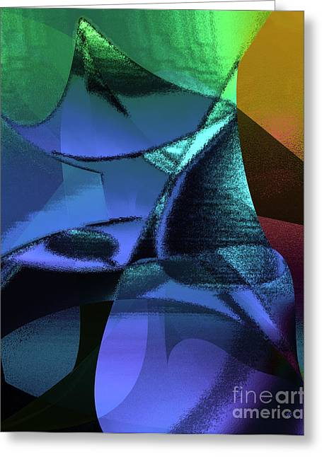 Greeting Card featuring the painting Abstract 1006 by Gerlinde Keating - Galleria GK Keating Associates Inc