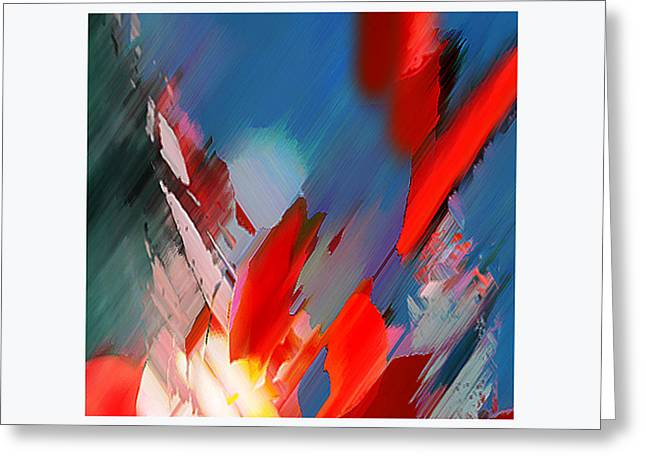 Abstract 11 Greeting Card by Anil Nene