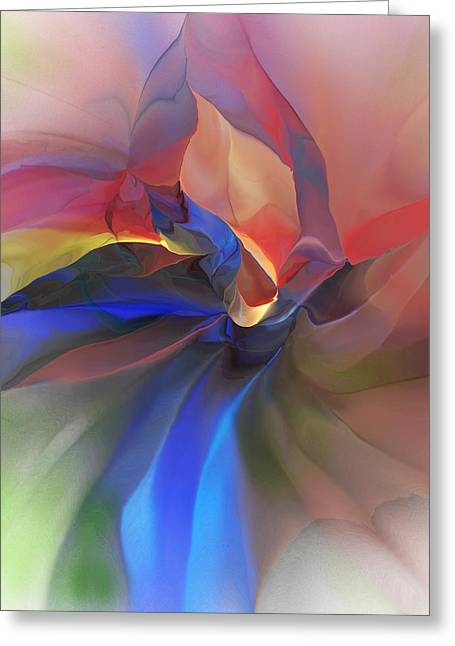 Greeting Card featuring the digital art Abstract 121214 by David Lane