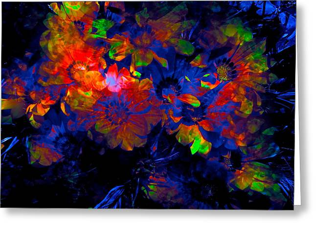 Abstract 129 Greeting Card by Pamela Cooper