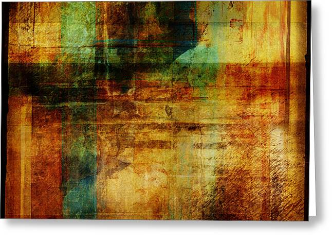 Abstract 1301 Greeting Card by Mark Preston
