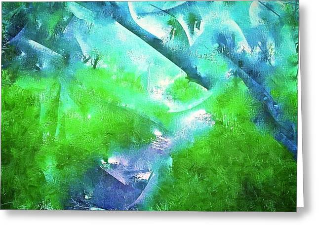 Abstract 15 Greeting Card by Pamela Cooper