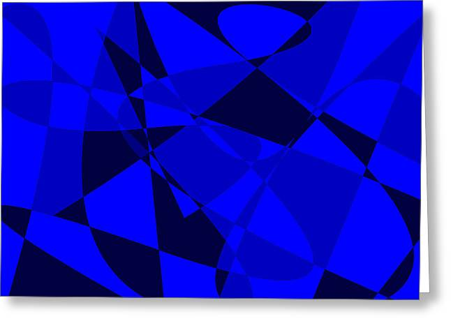 Abstract 154 Greeting Card by J D Owen