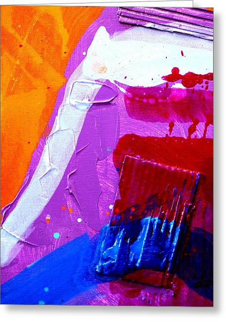 Abstract  19614 Cropped Vi Greeting Card by John  Nolan