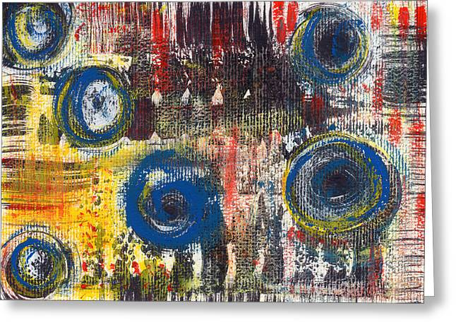 Abstract 2 Greeting Card by Angela Bruno