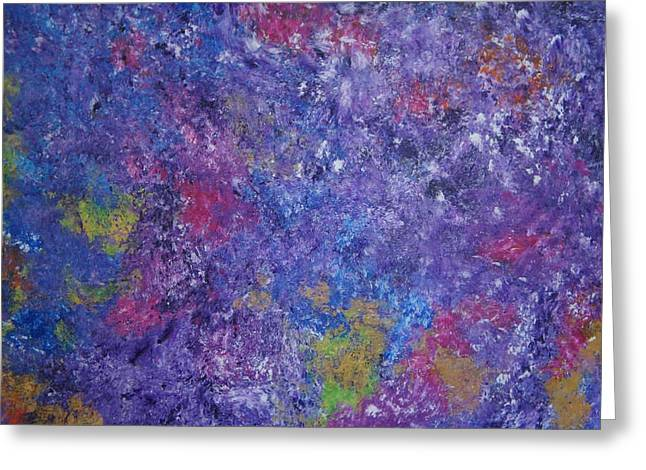 Greeting Card featuring the painting Abstract 2 by Kristine Bogdanovich