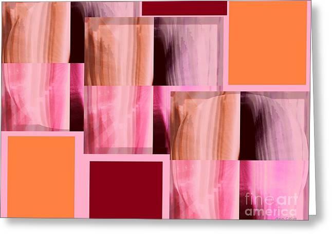 Abstract 2 Greeting Card by Ann Calvo