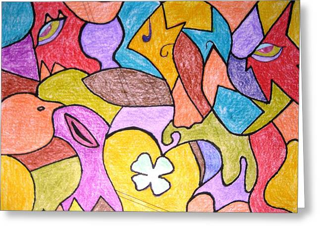 Abstract 2 Greeting Card by Will Boutin Photos