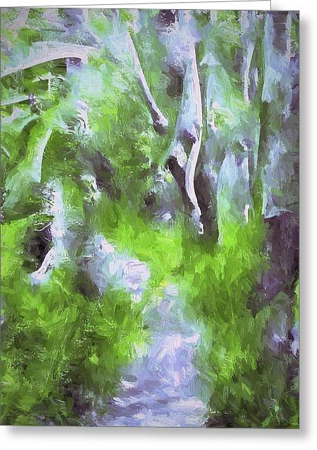 Abstract 20 Greeting Card by Pamela Cooper