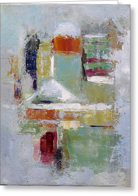 Abstract 2015 02 Greeting Card by Becky Kim