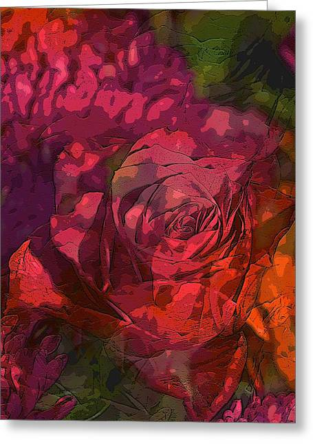 Abstract 285 Greeting Card by Pamela Cooper