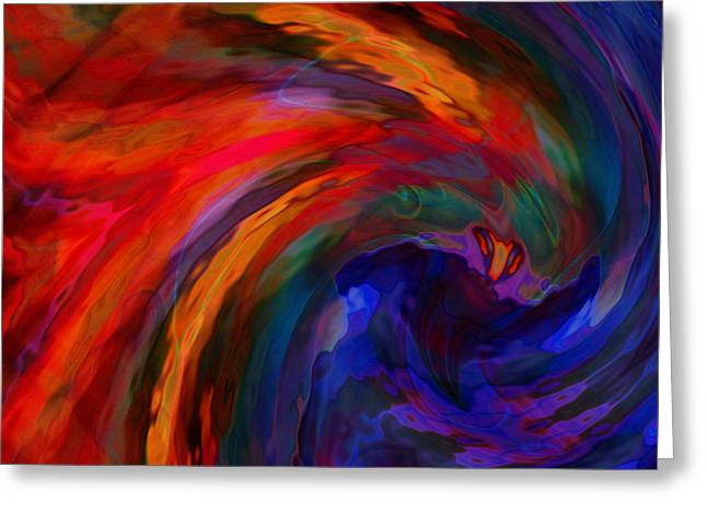 Abstract 29012013 - 042 Greeting Card by Stuart Turnbull