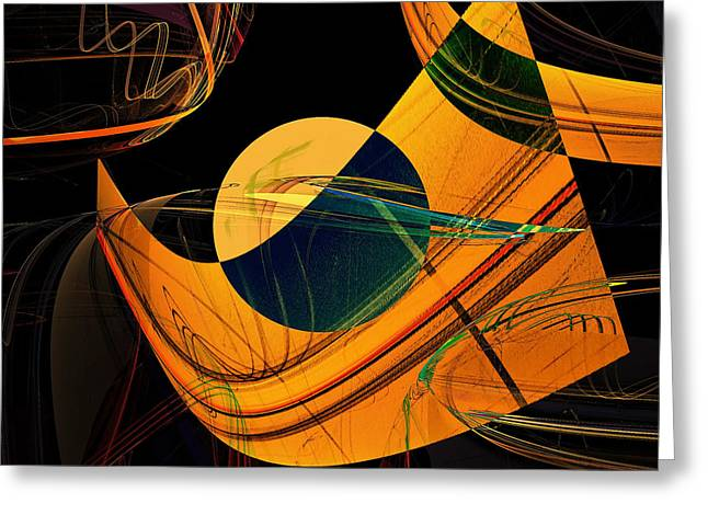 Abstract 45 Greeting Card