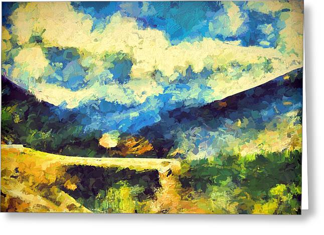 Abstract 46 Greeting Card by Pamela Cooper