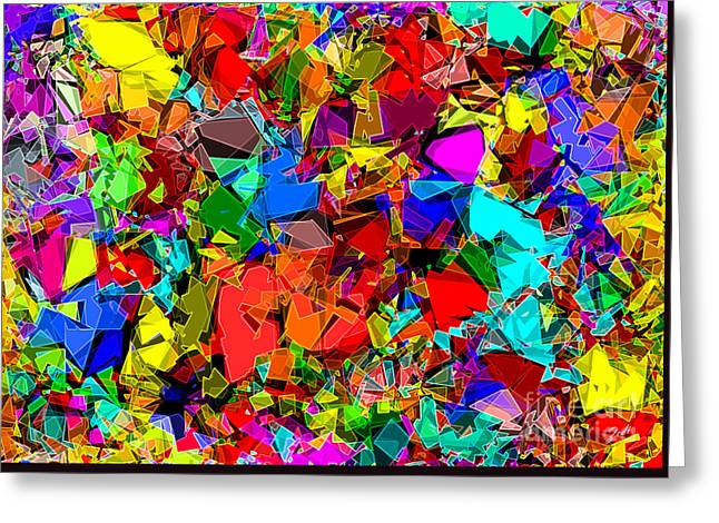 Greeting Card featuring the digital art Astratto - Abstract 50 by ZeDi