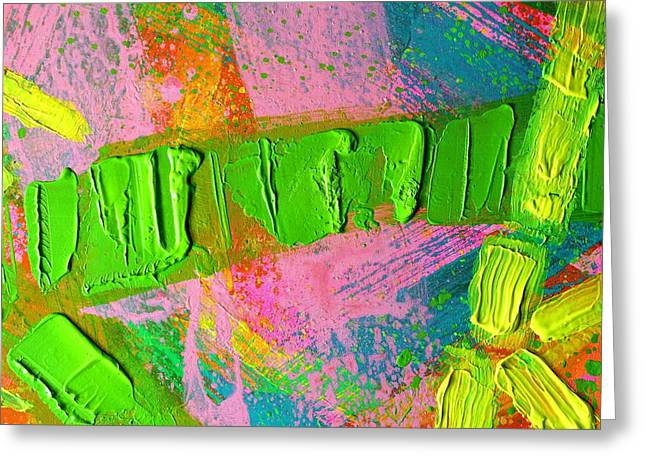 abstract 6814 Diptych Cropped XIV Greeting Card by John  Nolan