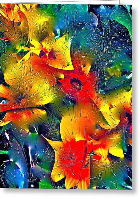 Abstract 69 Greeting Card by Pamela Cooper