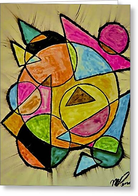 Abstract 89-004 Greeting Card