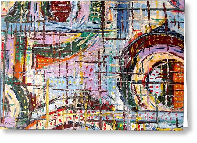 Abstract 9 Greeting Card by Patrick J Murphy