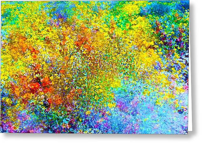 Abstract 96 Greeting Card by Pamela Cooper