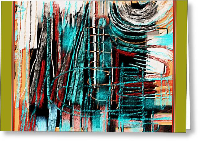 Abstract 974 Greeting Card by Nedunseralathan R