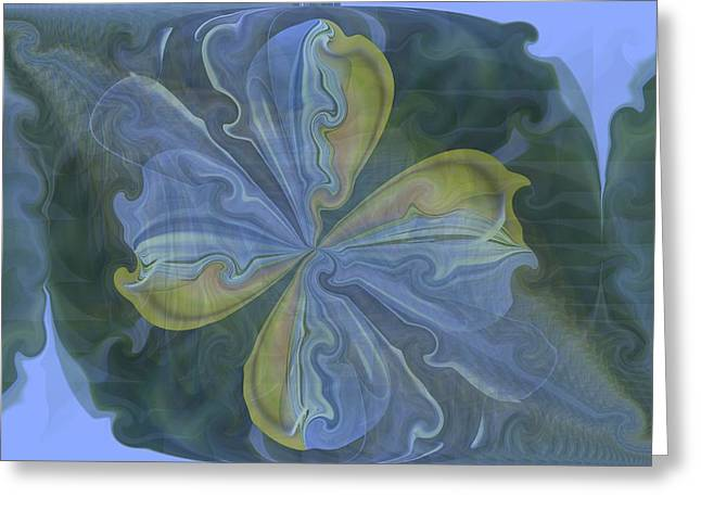 Abstract A023 Greeting Card by Maria Urso