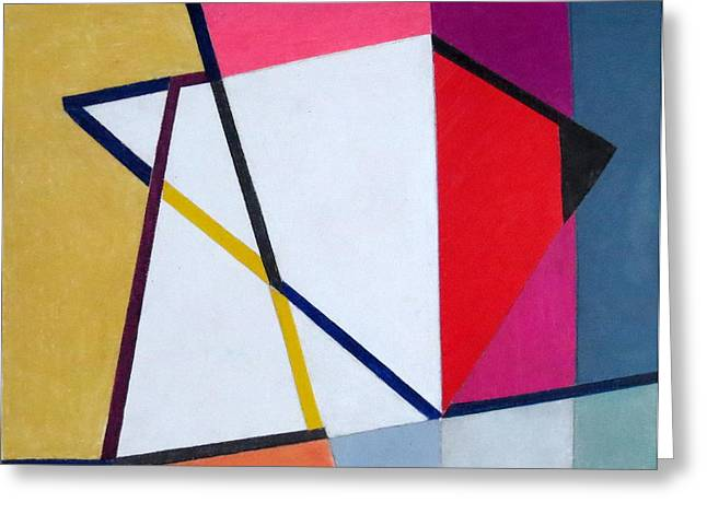 Abstract Angles V Greeting Card by Diane Fine